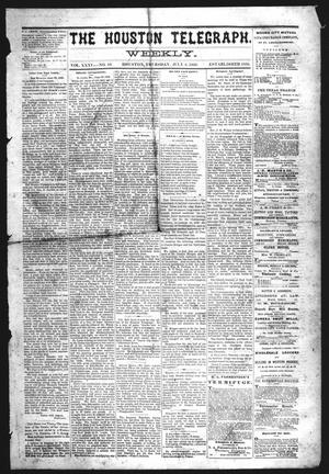 Primary view of object titled 'The Houston Telegraph (Houston, Tex.), Vol. 35, No. 10, Ed. 1 Thursday, July 8, 1869'.