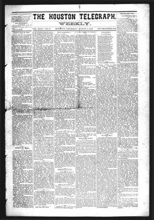 Primary view of object titled 'The Houston Telegraph (Houston, Tex.), Vol. 35, No. 15, Ed. 1 Thursday, August 5, 1869'.