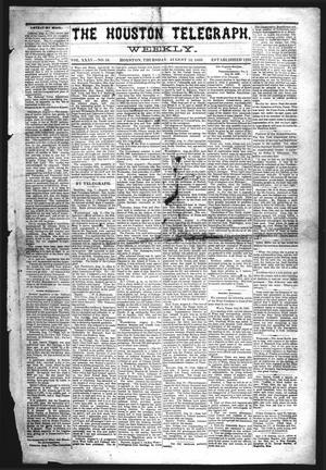 Primary view of object titled 'The Houston Telegraph (Houston, Tex.), Vol. 35, No. 16, Ed. 1 Thursday, August 12, 1869'.