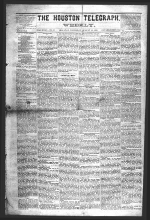 Primary view of object titled 'The Houston Telegraph (Houston, Tex.), Vol. 35, No. 17, Ed. 1 Thursday, August 19, 1869'.