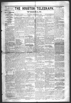 Primary view of object titled 'The Houston Telegraph (Houston, Tex.), Vol. 35, No. 19, Ed. 1 Thursday, September 2, 1869'.