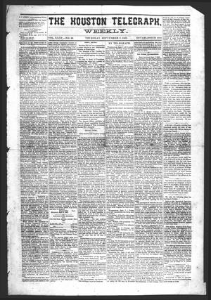Primary view of object titled 'The Houston Telegraph (Houston, Tex.), Vol. 35, No. 20, Ed. 1 Thursday, September 9, 1869'.