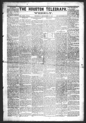 Primary view of object titled 'The Houston Telegraph (Houston, Tex.), Vol. 35, No. 23, Ed. 1 Thursday, September 30, 1869'.