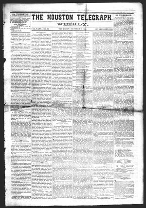 Primary view of object titled 'The Houston Telegraph (Houston, Tex.), Vol. 35, No. 24, Ed. 1 Thursday, October 7, 1869'.