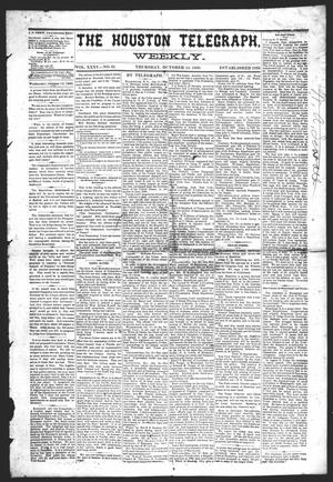 Primary view of object titled 'The Houston Telegraph (Houston, Tex.), Vol. 35, No. 25, Ed. 1 Thursday, October 14, 1869'.