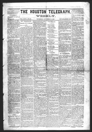 Primary view of object titled 'The Houston Telegraph (Houston, Tex.), Vol. 35, No. 26, Ed. 1 Thursday, October 28, 1869'.