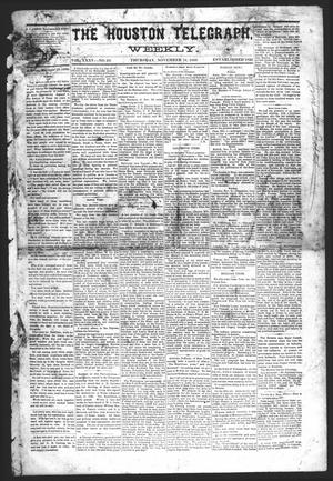 Primary view of object titled 'The Houston Telegraph (Houston, Tex.), Vol. 35, No. 29, Ed. 1 Thursday, November 18, 1869'.