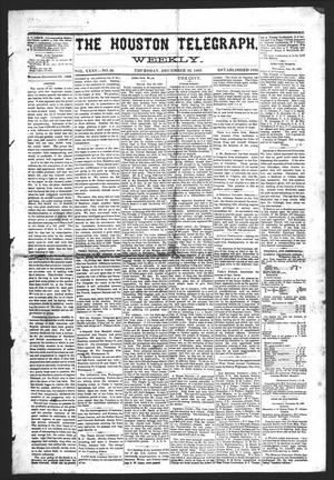 Primary view of object titled 'The Houston Telegraph (Houston, Tex.), Vol. 35, No. 34, Ed. 1 Thursday, December 23, 1869'.