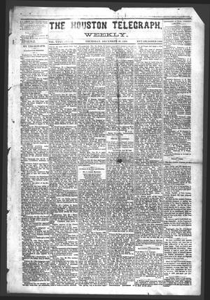 Primary view of object titled 'The Houston Telegraph (Houston, Tex.), Vol. 35, No. 35, Ed. 1 Thursday, December 30, 1869'.