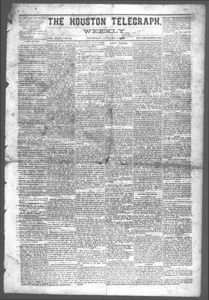Primary view of object titled 'The Houston Telegraph (Houston, Tex.), Vol. 35, No. 35, Ed. 1 Thursday, January 6, 1870'.