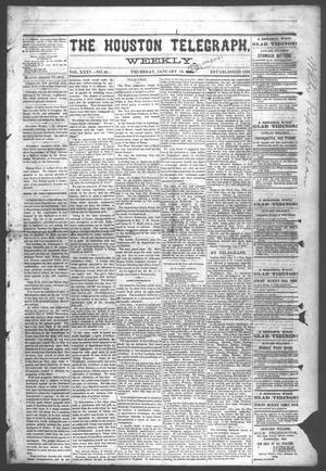 Primary view of object titled 'The Houston Telegraph (Houston, Tex.), Vol. 35, No. 36, Ed. 1 Thursday, January 13, 1870'.