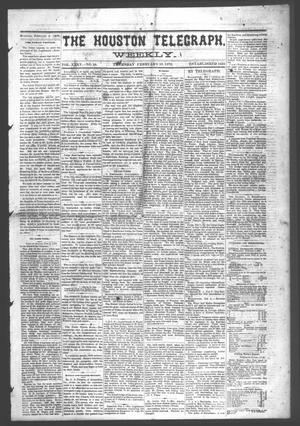 Primary view of object titled 'The Houston Telegraph (Houston, Tex.), Vol. 35, No. 40, Ed. 1 Thursday, February 10, 1870'.