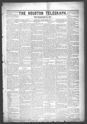 Primary view of object titled 'The Houston Telegraph (Houston, Tex.), Vol. 35, No. 47, Ed. 1 Thursday, February 17, 1870'.