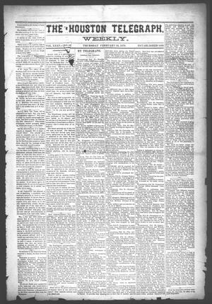 Primary view of object titled 'The Houston Telegraph (Houston, Tex.), Vol. 35, No. 48, Ed. 1 Thursday, February 24, 1870'.