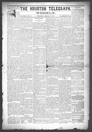 Primary view of object titled 'The Houston Telegraph (Houston, Tex.), Vol. 35, No. 51, Ed. 1 Thursday, March 17, 1870'.