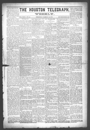 Primary view of object titled 'The Houston Telegraph (Houston, Tex.), Vol. 35, No. 52, Ed. 1 Thursday, March 24, 1870'.