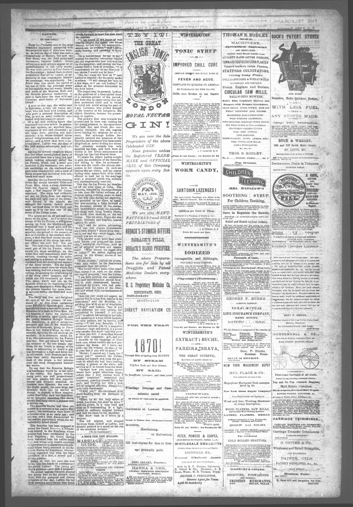 The Houston Telegraph (Houston, Tex ), Vol  36, No  39, Ed