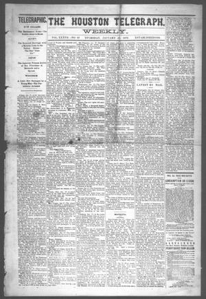 Primary view of object titled 'The Houston Telegraph (Houston, Tex.), Vol. 37, No. 39, Ed. 1 Thursday, January 18, 1872'.