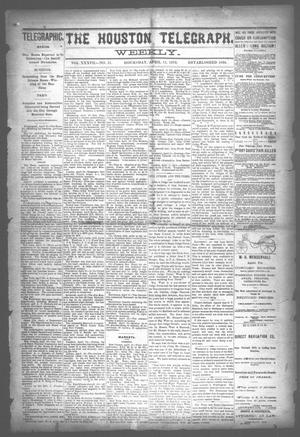 Primary view of object titled 'The Houston Telegraph (Houston, Tex.), Vol. 37, No. 51, Ed. 1 Thursday, April 11, 1872'.