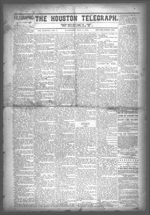 Primary view of The Houston Telegraph (Houston, Tex.), Vol. 38, No. 3, Ed. 1 Thursday, May 9, 1872