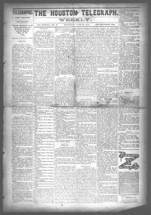 Primary view of object titled 'The Houston Telegraph (Houston, Tex.), Vol. 38, No. 10, Ed. 1 Thursday, June 20, 1872'.