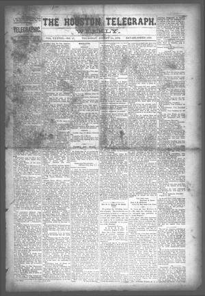 Primary view of object titled 'The Houston Telegraph (Houston, Tex.), Vol. 38, No. 17, Ed. 1 Thursday, August 15, 1872'.
