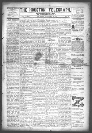The Houston Telegraph (Houston, Tex.), Vol. 38, No. 43, Ed. 1 Thursday, February 20, 1873