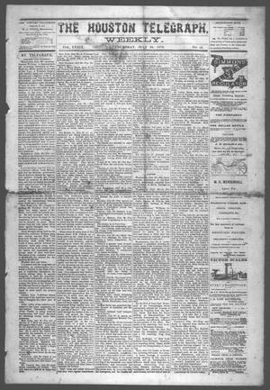 Primary view of object titled 'The Houston Telegraph (Houston, Tex.), Vol. 39, No. 12, Ed. 1 Thursday, July 24, 1873'.