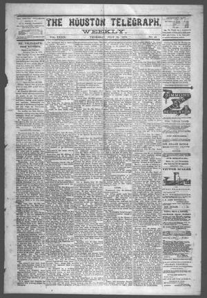 Primary view of object titled 'The Houston Telegraph (Houston, Tex.), Vol. 39, No. 13, Ed. 1 Thursday, July 31, 1873'.