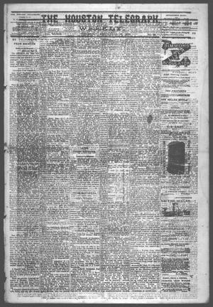 Primary view of object titled 'The Houston Telegraph (Houston, Tex.), Vol. 39, No. 20, Ed. 1 Thursday, September 18, 1873'.