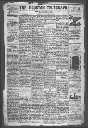 Primary view of object titled 'The Houston Telegraph (Houston, Tex.), Vol. 39, No. 21, Ed. 1 Thursday, October 2, 1873'.