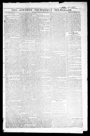 Primary view of object titled 'The Houston Tri-Weekly Telegraph (Houston, Tex.), Vol. 30, No. 181, Ed. 1 Monday, December 12, 1864'.