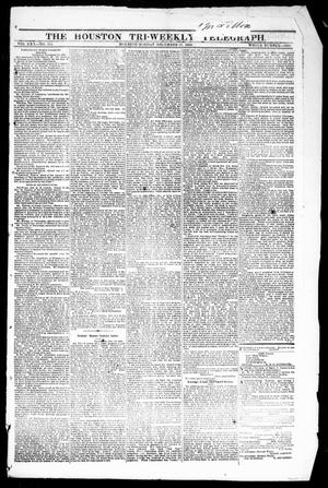 Primary view of object titled 'The Houston Tri-Weekly Telegraph (Houston, Tex.), Vol. 30, No. 184, Ed. 1 Monday, December 19, 1864'.