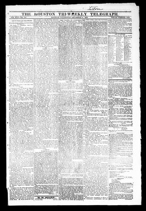 Primary view of object titled 'The Houston Tri-Weekly Telegraph (Houston, Tex.), Vol. 30, No. 185, Ed. 1 Wednesday, December 21, 1864'.