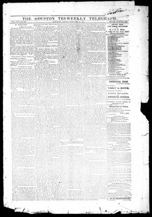 Primary view of object titled 'The Houston Tri-Weekly Telegraph (Houston, Tex.), Vol. 30, No. 207, Ed. 1 Friday, February 10, 1865'.