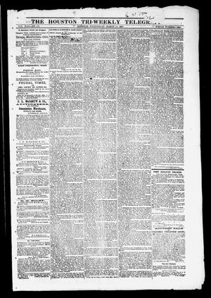 Primary view of object titled 'The Houston Tri-Weekly Telegraph (Houston, Tex.), Vol. 30, No. 152, Ed. 1 Wednesday, March 15, 1865'.