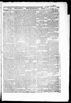 Primary view of object titled 'The Houston Tri-Weekly Telegraph (Houston, Tex.), Vol. 31, No. 29, Ed. 1 Wednesday, May 31, 1865'.
