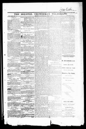 Primary view of object titled 'The Houston Tri-Weekly Telegraph (Houston, Tex.), Vol. 31, No. 41, Ed. 1 Wednesday, June 28, 1865'.