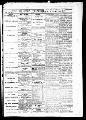 Primary view of object titled 'The Houston Tri-Weekly Telegraph (Houston, Tex.), Vol. 31, No. 72, Ed. 1 Friday, September 1, 1865'.