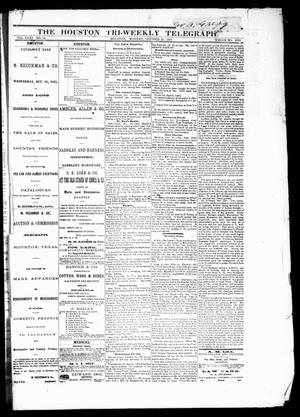 Primary view of object titled 'The Houston Tri-Weekly Telegraph (Houston, Tex.), Vol. 31, No. 96, Ed. 1 Monday, October 16, 1865'.