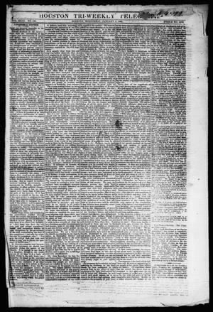 Primary view of object titled 'Houston Tri-Weekly Telegraph (Houston, Tex.), Vol. 31, No. 130, Ed. 1 Wednesday, January 3, 1866'.
