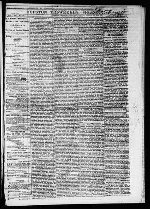 Primary view of object titled 'Houston Tri-Weekly Telegraph (Houston, Tex.), Vol. 31, No. 131, Ed. 1 Friday, January 5, 1866'.