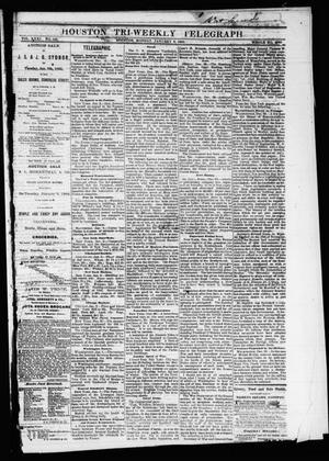 Primary view of object titled 'Houston Tri-Weekly Telegraph (Houston, Tex.), Vol. 31, No. 132, Ed. 1 Monday, January 8, 1866'.
