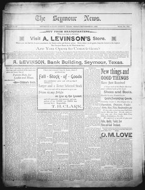 The Seymour News (Seymour, Tex.), Vol. 10, No. 47, Ed. 1 Friday, September 29, 1899