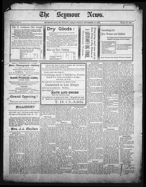 Primary view of object titled 'The Seymour News (Seymour, Tex.), Vol. 11, No. 2, Ed. 1 Friday, November 17, 1899'.