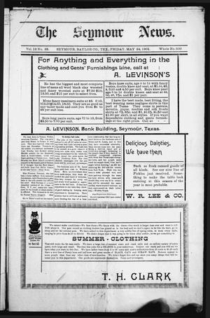 Primary view of object titled 'The Seymour News (Seymour, Tex.), Vol. 12, No. 28, Ed. 1 Friday, May 24, 1901'.