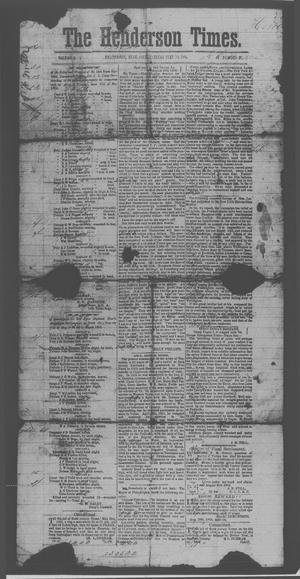 Primary view of object titled 'The Henderson Times.  (Henderson, Tex.), Vol. 5, No. 32, Ed. 1 Saturday, September 10, 1864'.