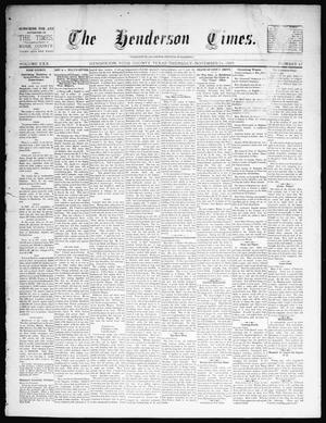 Primary view of object titled 'The Henderson Times.  (Henderson, Tex.), Vol. 30, No. 47, Ed. 1 Thursday, November 21, 1889'.