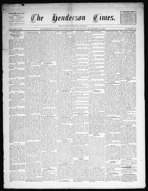 Primary view of object titled 'The Henderson Times.  (Henderson, Tex.), Vol. 30, No. 48, Ed. 1 Thursday, November 28, 1889'.