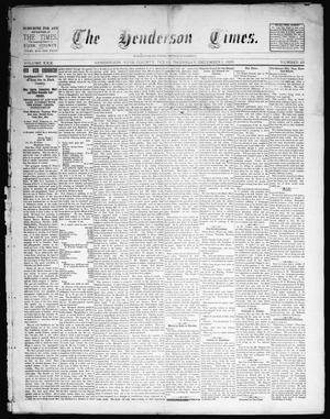 Primary view of object titled 'The Henderson Times.  (Henderson, Tex.), Vol. 30, No. 49, Ed. 1 Thursday, December 5, 1889'.